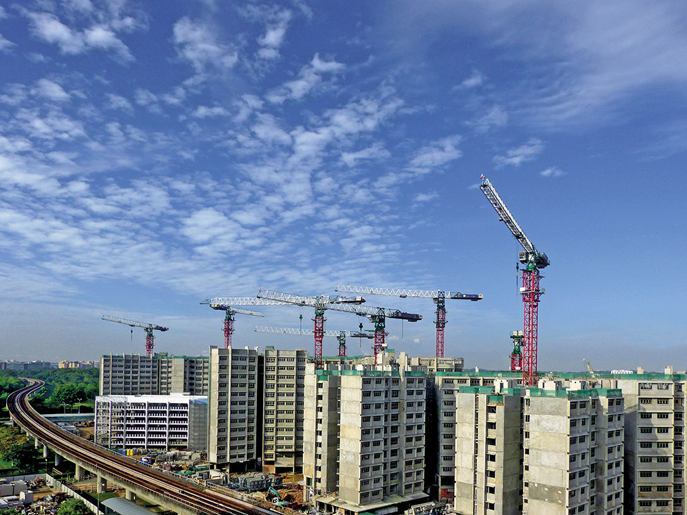 Singapore housing construction
