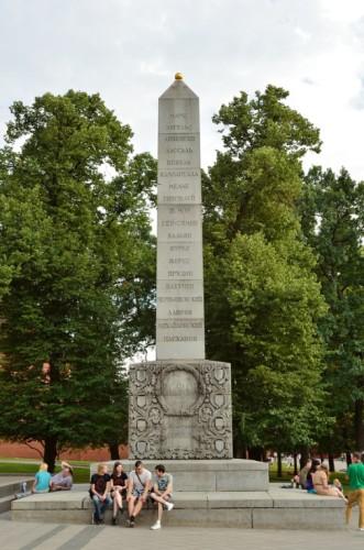 Памятник Александру I в Александровском саду, открытый в 2014 году. Москва