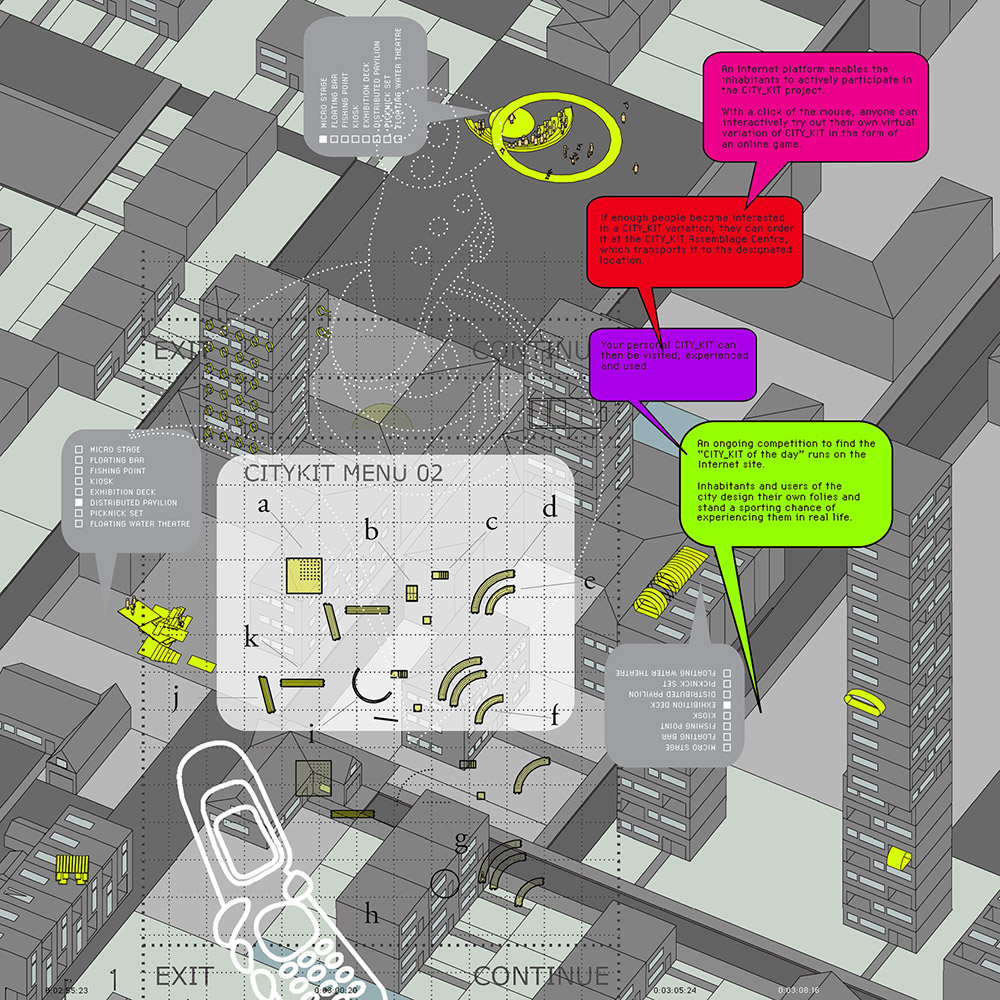 CITY KIT urban game: a DIY urban building package / © Hybrid Space Lab