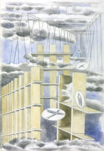 Mansions of the Dead 1932 Paul Nash 1889-1946 Purchased 1981 http://www.tate.org.uk/art/work/T03204