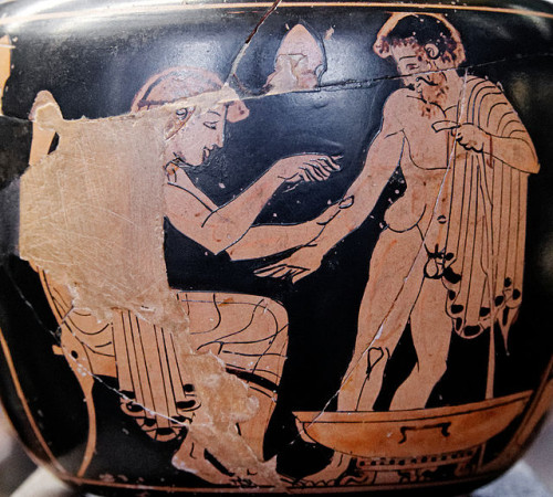 About time to change the doctor–patient paradigm? Ancient Greek vase showing a patient visiting the physician to be treated. Source: Wikipedia Commons