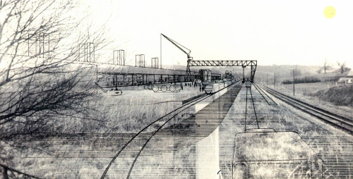 Cedric Price's architectural drawings engaged with existing landscapes. 1966